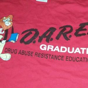 Vintage 1980's D.A.R.E  Tshirt medium